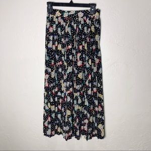 Vintage Chaus | pleated midi skirt with bow print